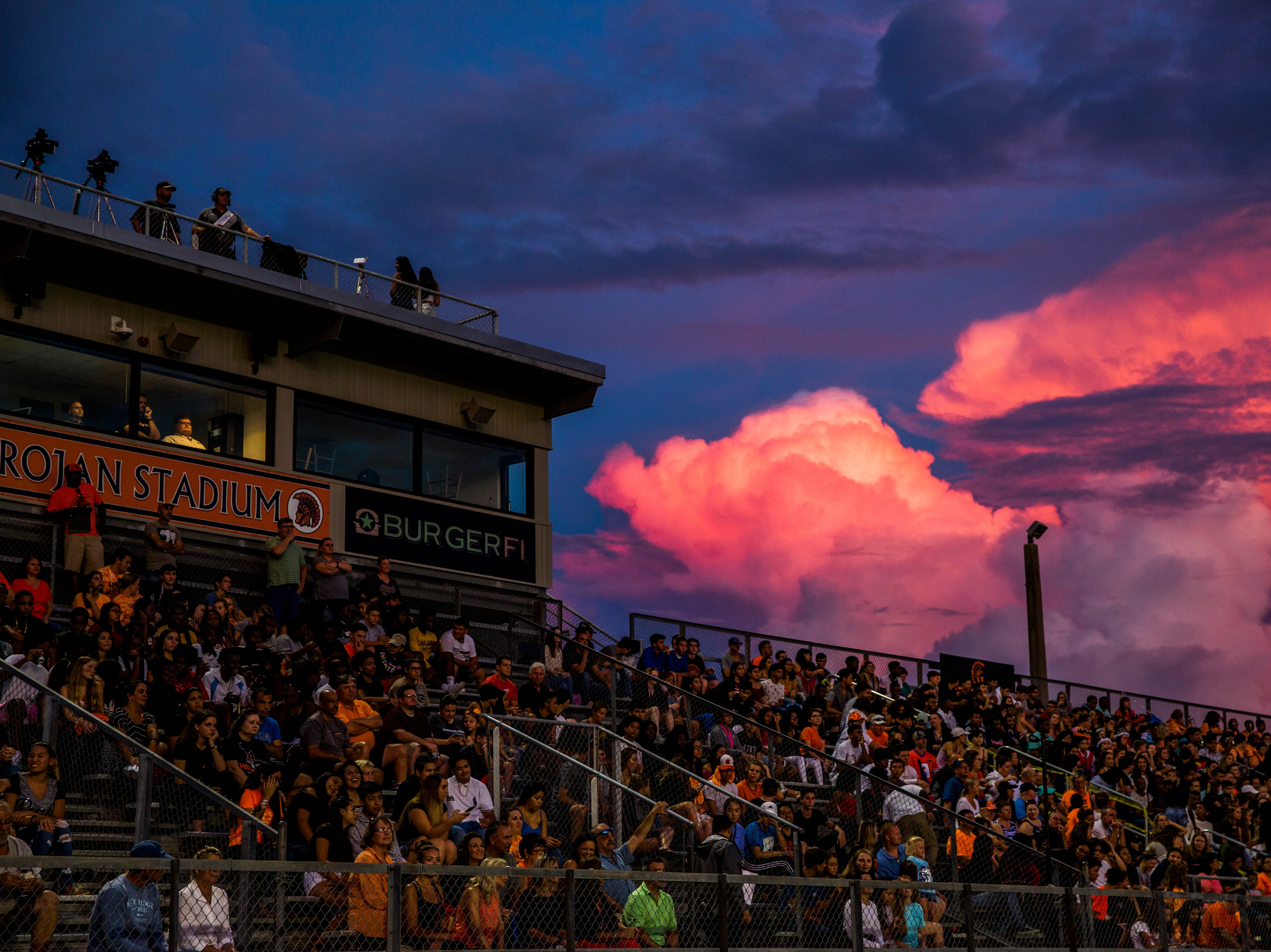 The crowd during the game between Lely and Golden Gate at Lely High School on Friday, Sept. 7, 2018.
