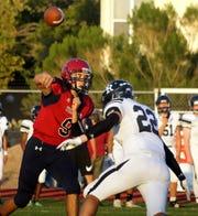 Senior Wildcat quarterback Daniel Garcia (9) in action this past season.