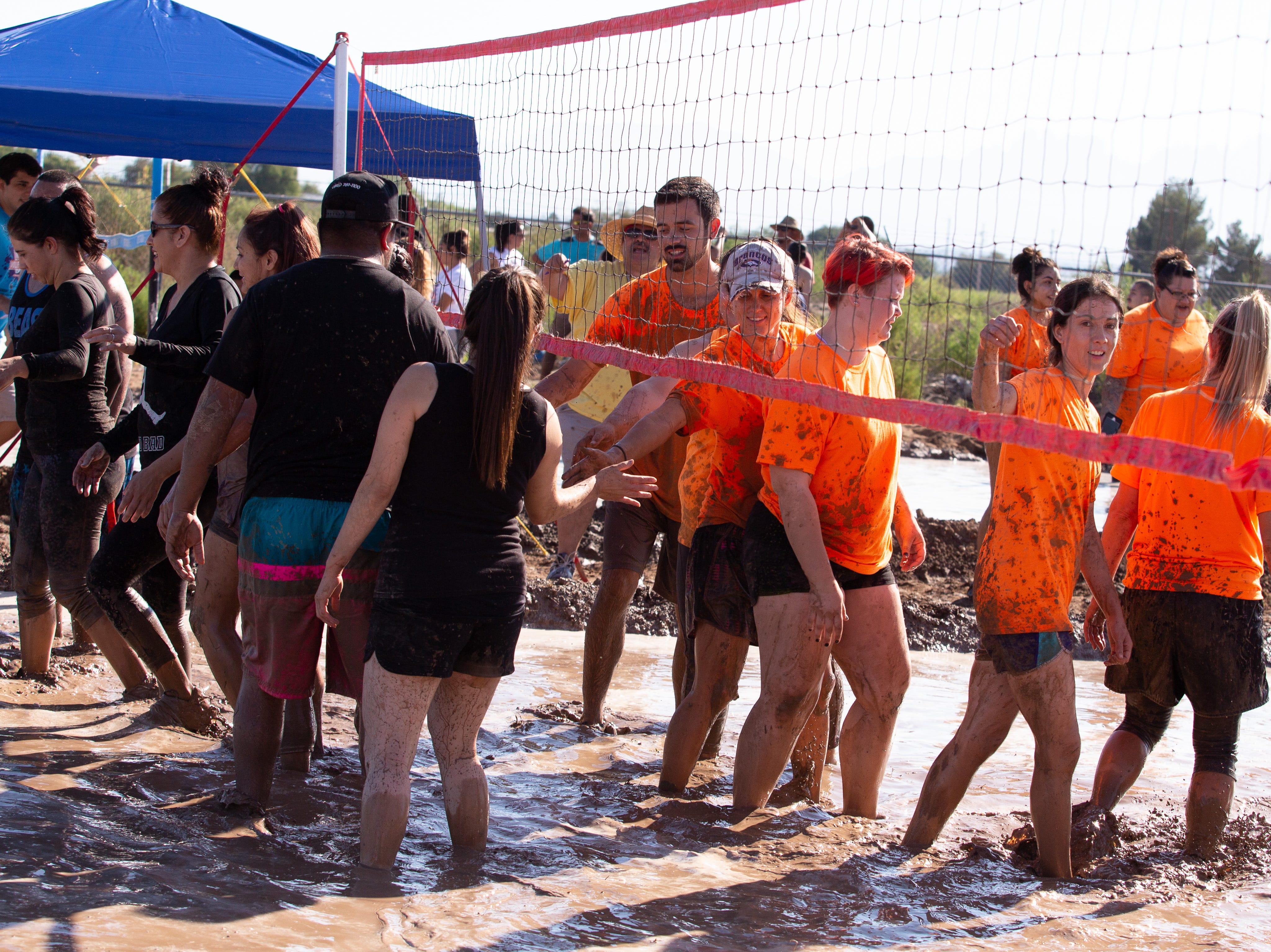 Sportsmanship was on display at the 9th Annual Mudd Volleyball tournament on September 8, 2018.
