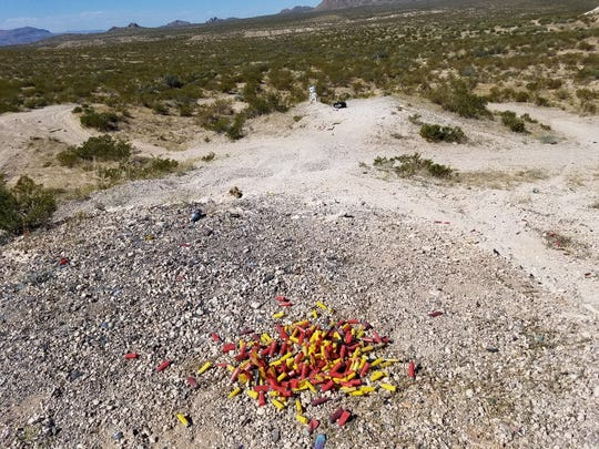 """""""Trigger trash"""" ruins the pristine nature of public lands. Responsible recreational target shooters should remove their spent shells, targets and general trash, restoring public lands for other public land users."""