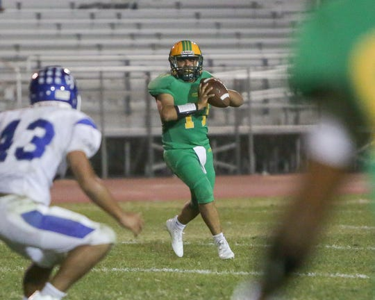 Jacob Calderon, who led the Arabs to an upset victory over La Quinta in 2018, will again be the starting quarterback this year.