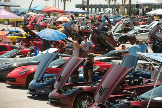 "Corvette enthusiasts check out Corvette Saturday, September 8, 2018 during the 16th annual ""Vettes at the Beach"" Corvette Show at Pensacola Beach, presented by the Miracle Strip Corvette Club."