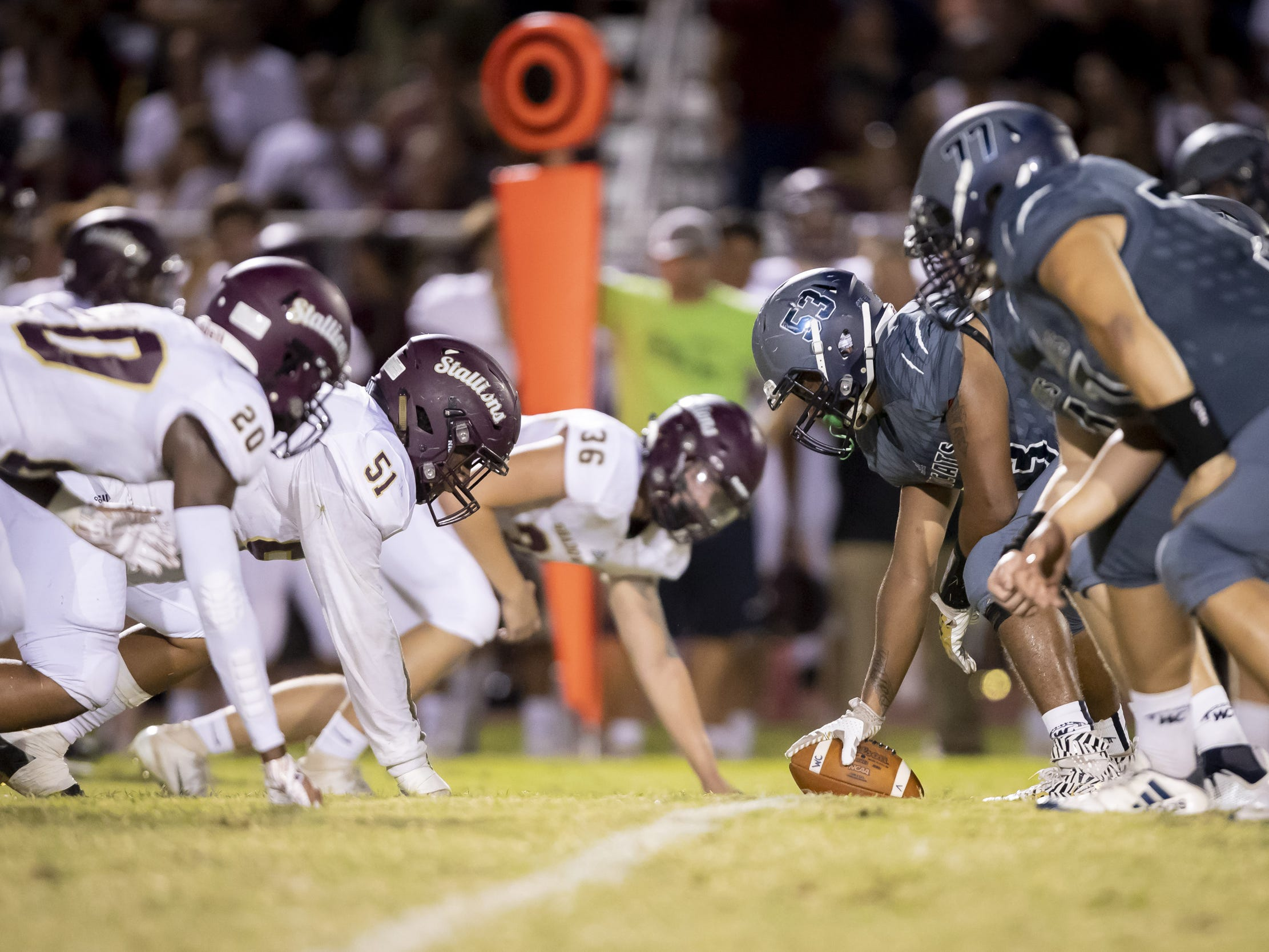 The Willow Canyon Wildcats and the Shadow Ridge Stallions face off at Willow Canyon High School on Friday, September 7, 2018 in Surprise, Arizona. #azhsfb