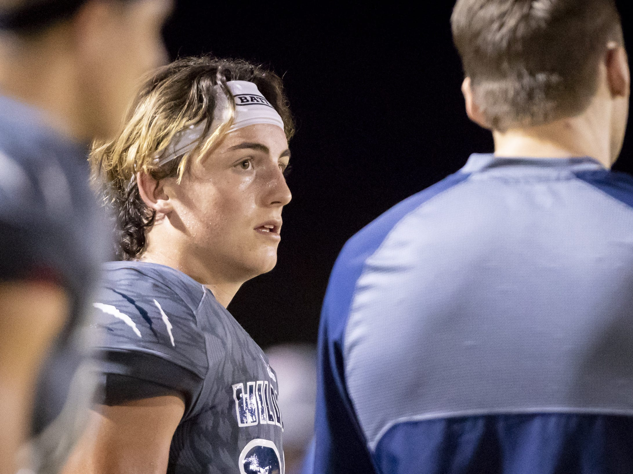 Senior strong safety Brandon Cook (25) of the Willow Canyon Wildcats looks on during the game against the Shadow Ridge Stallions at Willow Canyon High School on Friday, September 7, 2018 in Surprise, Arizona. #azhsfb