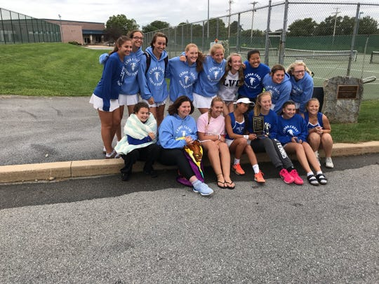 The Cedar Crest girls tennis team celebrated its fourth straight Lebanon County title on Saturday.
