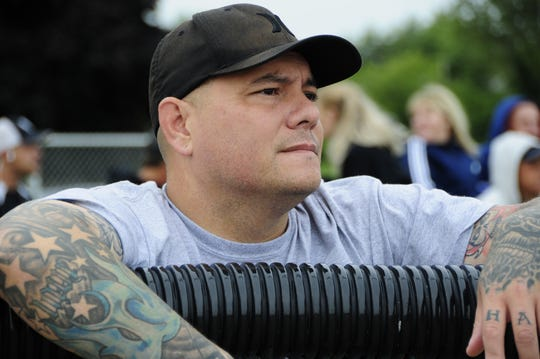 Buddy Bernardo of Port Huron watches the action Saturday, Sept. 8, 2018 at the Blue Water Recovery Classic Softball Tournament at Knox Field in Port Huron.