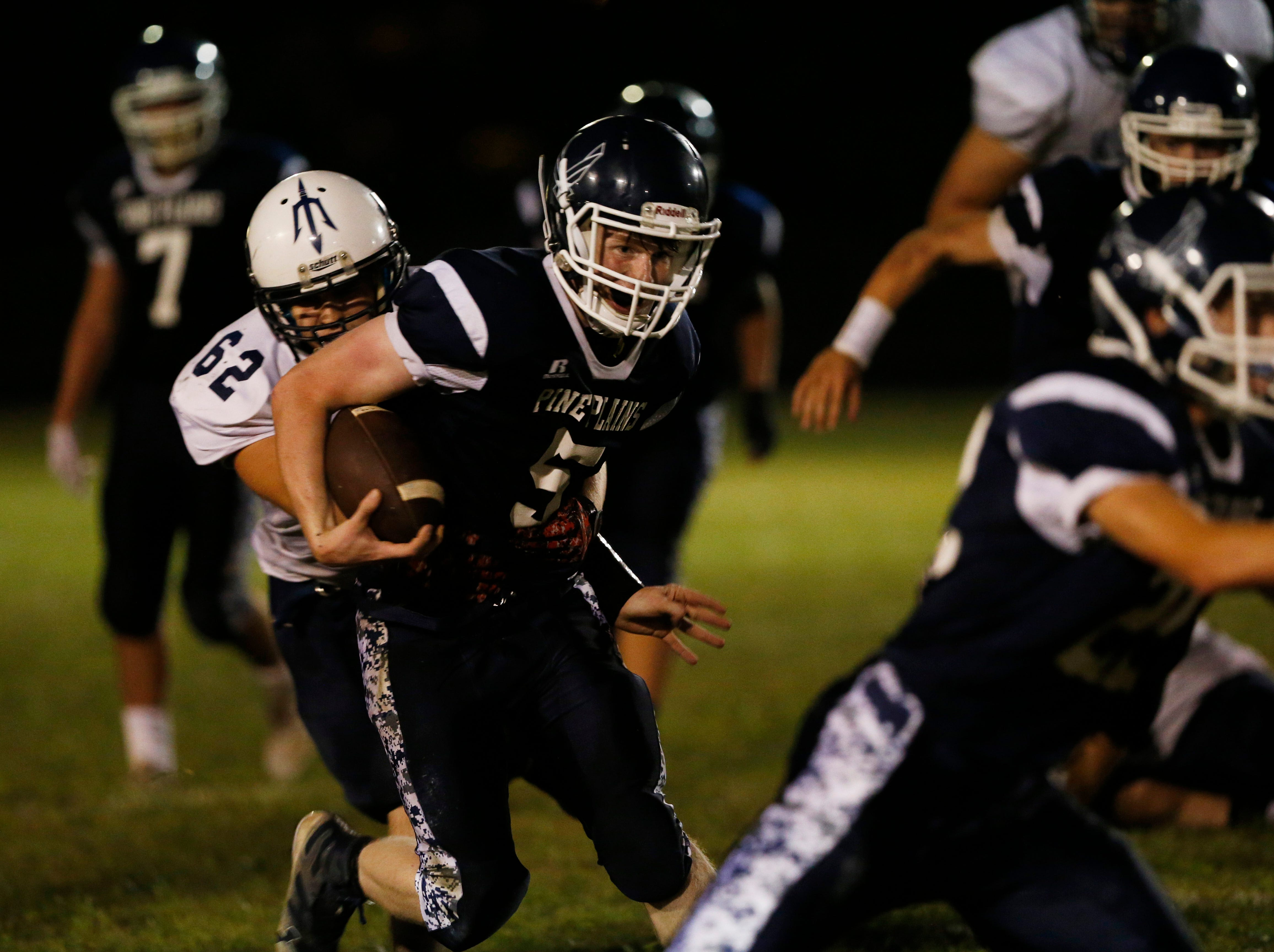 Action from Friday's game between Pine Plains and Roscoe at Stissing Mountain High School on September 7, 2018.