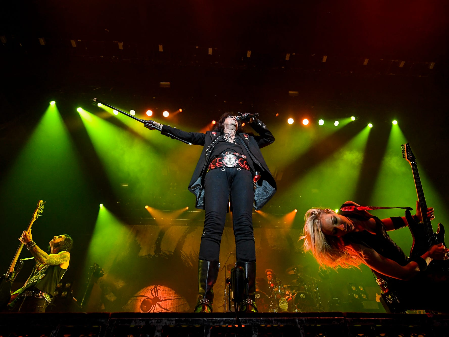 Rock legend Alice Cooper opens the York Fair Grandstand stage, Friday, September 7, 2018.