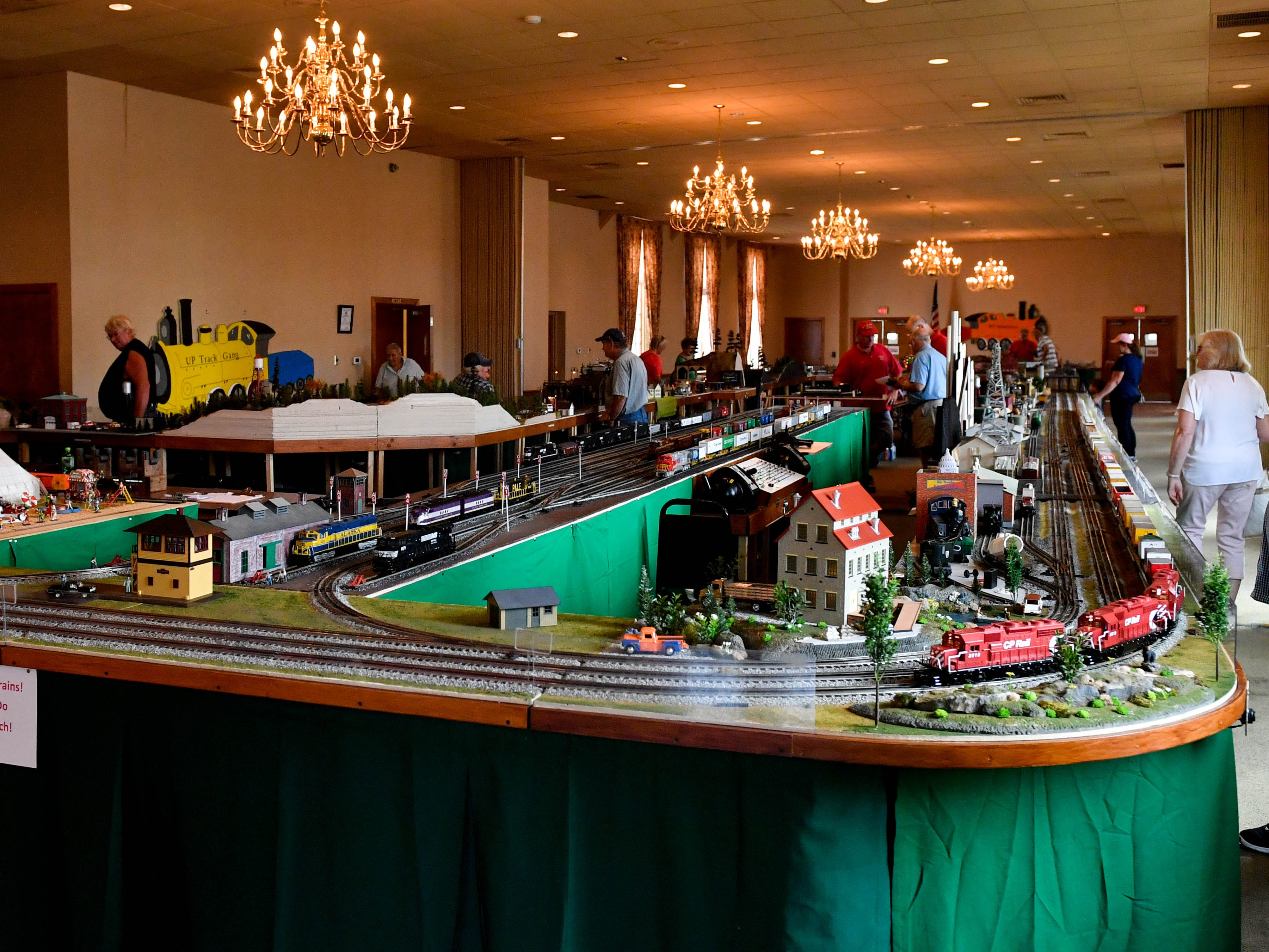 The York Fair features an entire room dedicated to model trains.