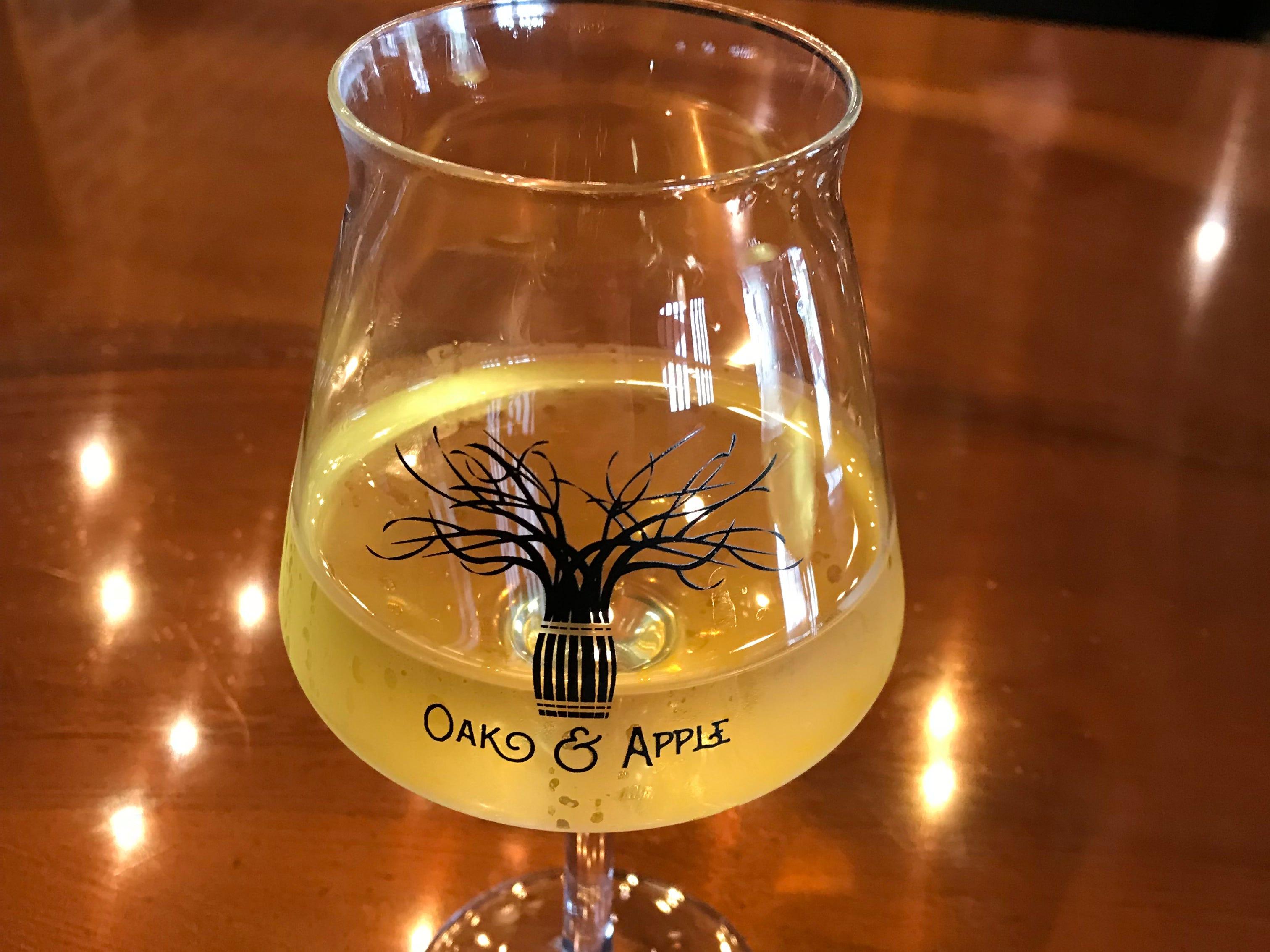 Oak & Apple Cidery's Core semi-dry cider.