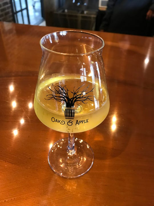 Oak & Apple Cidery's Core semi-dry cider.