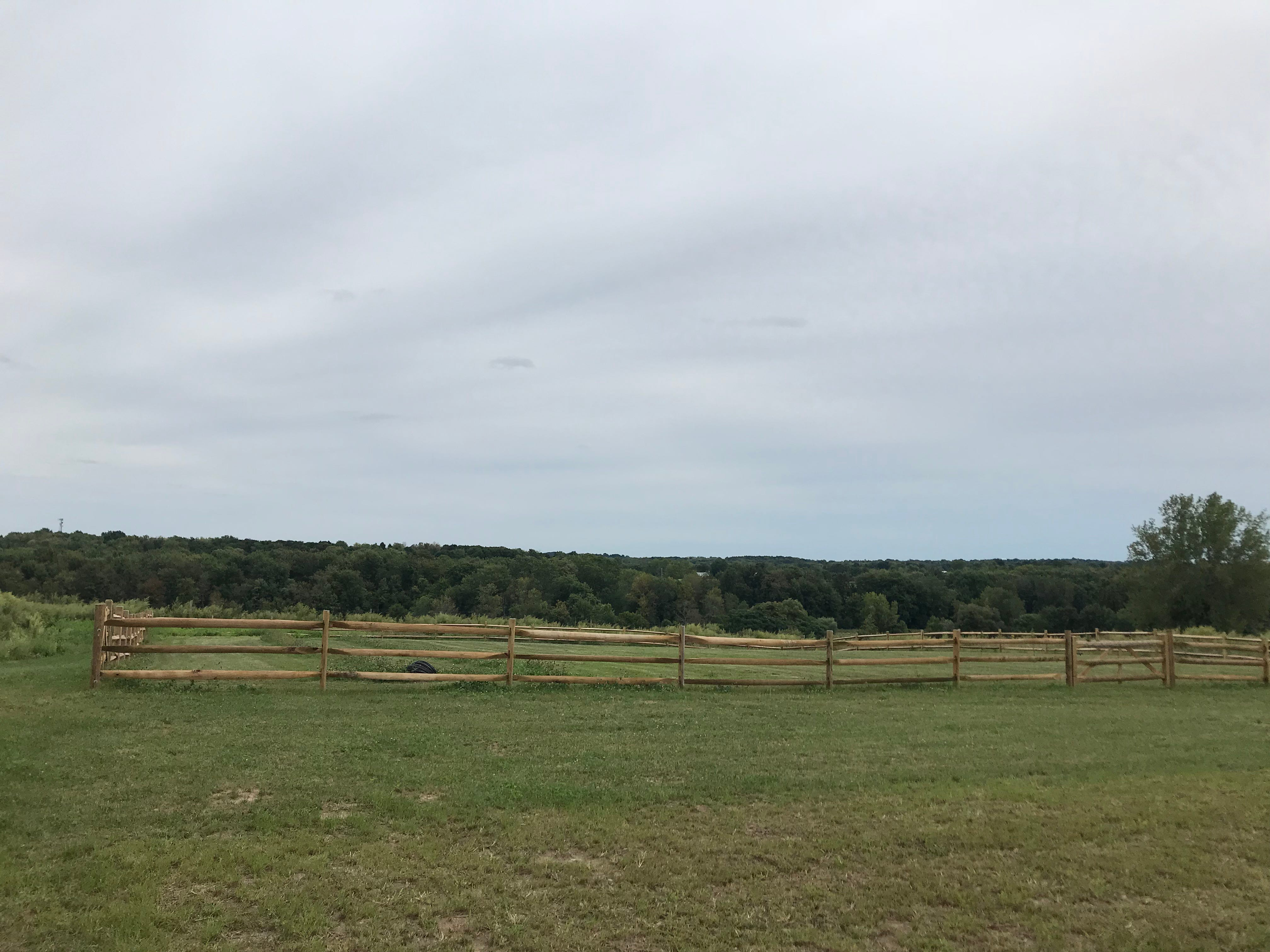 Never-ending views in every direction on top of the hill at Oak & Apple Cidery in Penfield.