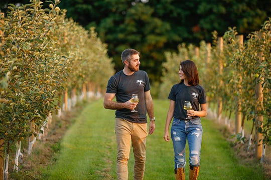 Christian and Christina Krapf, owners of Oak & Apple Cidery