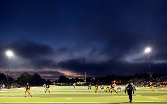 The new turf at The Pit at Salinas High will be similar to the type currently used at Everett Alvarez' football field.