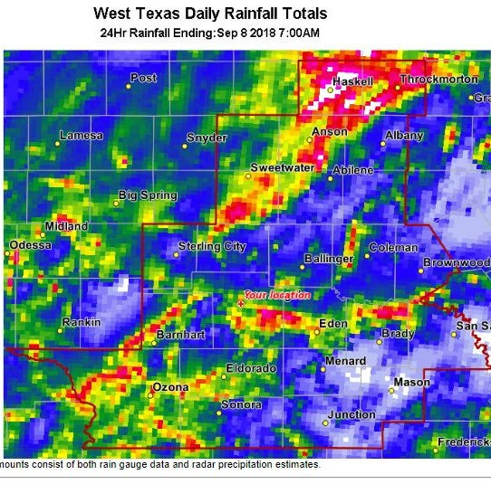 Heavy rains soak West Texas