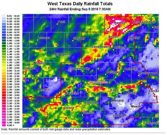 Rain Totals 0909