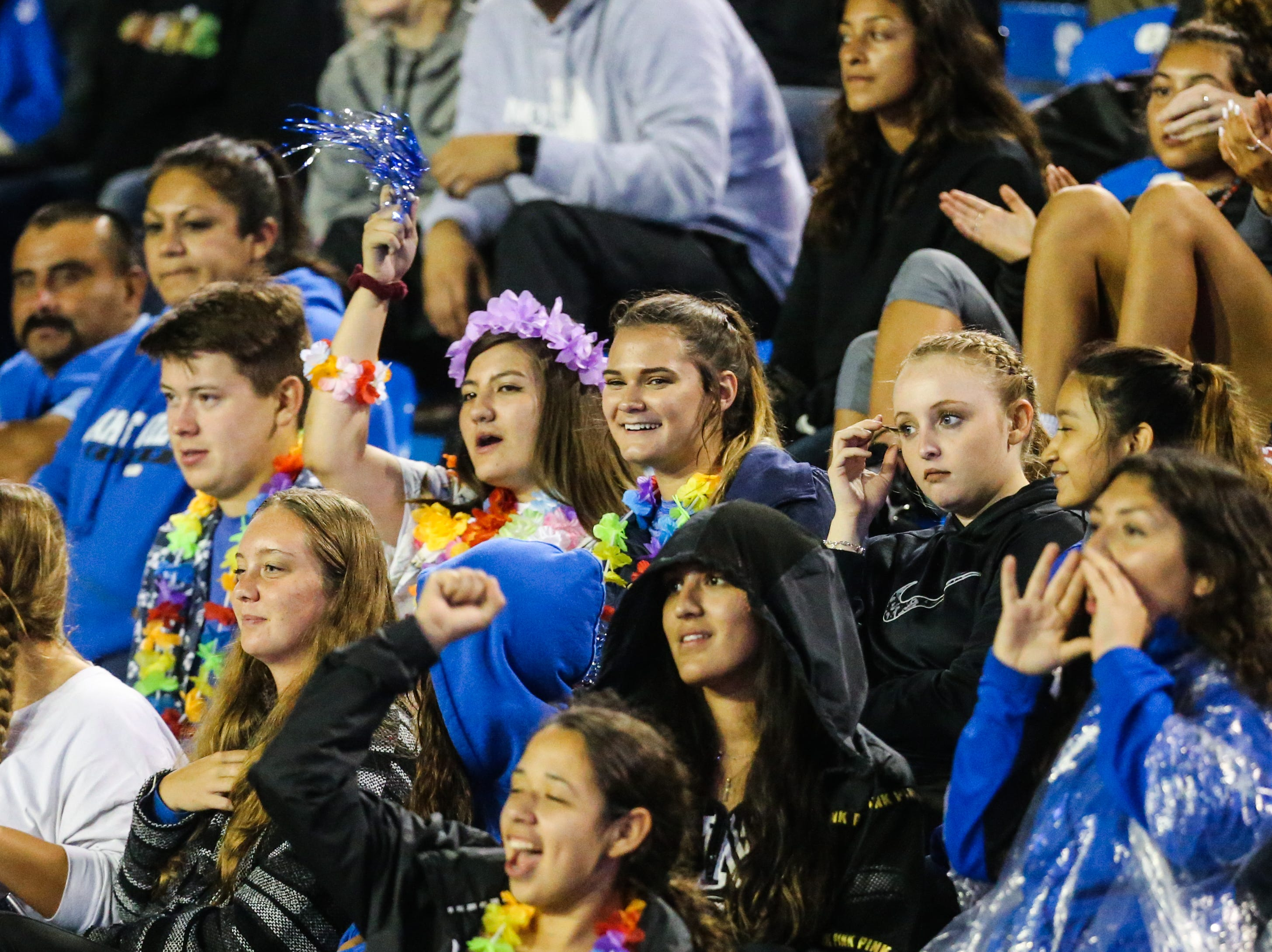 Lake View fans cheer on their team during the game against Fabens Friday, Sept. 7, 2018, at San Angelo Stadium.