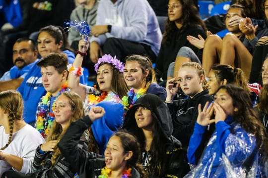 Lake View fans cheer on their team during the game against Fabens on Friday, Sept. 7, 2018, at San Angelo Stadium.