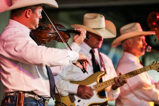 The Greg Gibbs Band performs during the 6th annual Cowboy Gathering Saturday, Sept. 8, 2018, at Wells Fargo Pavilion.