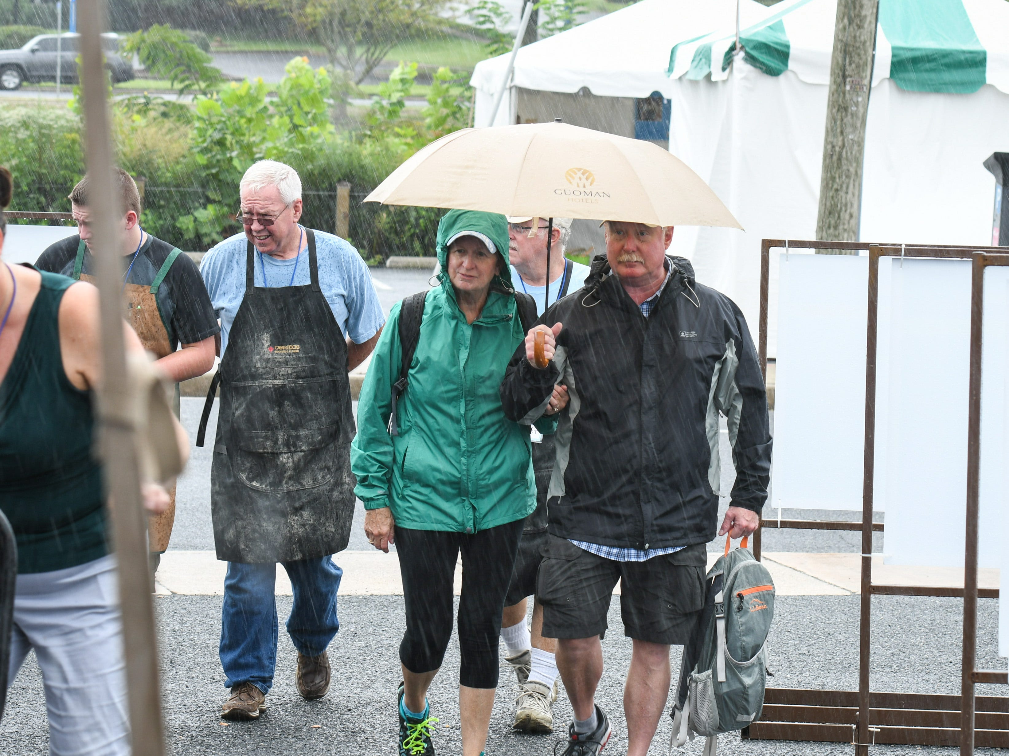 Rain didn't deter crowds at the National Folk Festival in Salisbury on Saturday, Sept. 8.