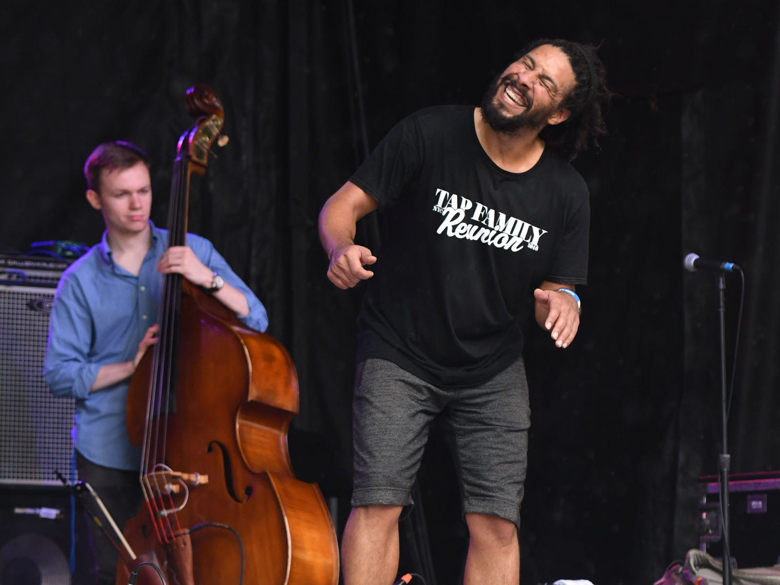 Jason Samuels Smith performs during the 78th National Folk Festival in Salisbury, Md. on Saturday, Sept. 8, 2018.