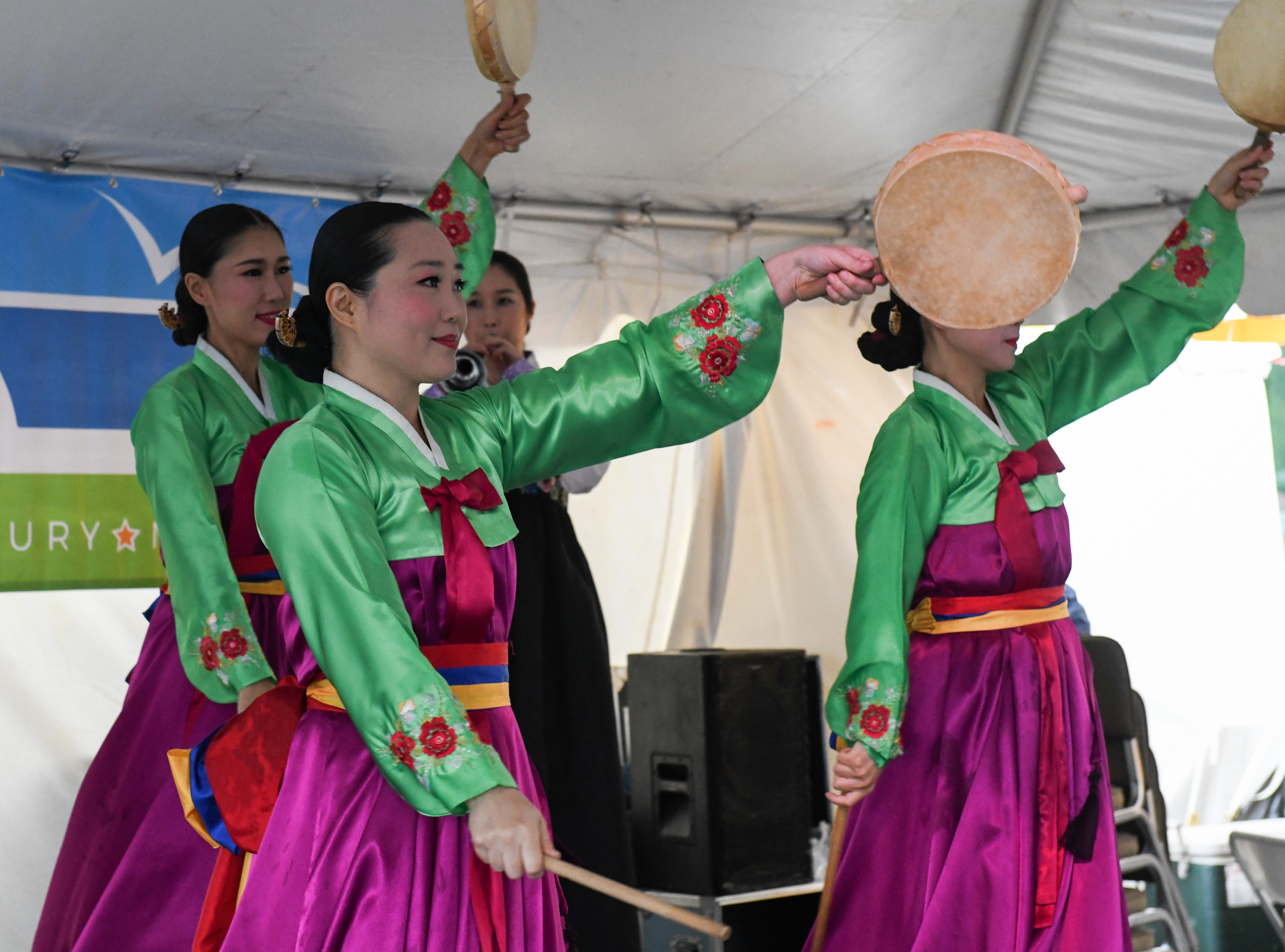 The Sounds of Korea group preforms at the National Folk Festival in Salisbury on Saturday, Sept. 8.