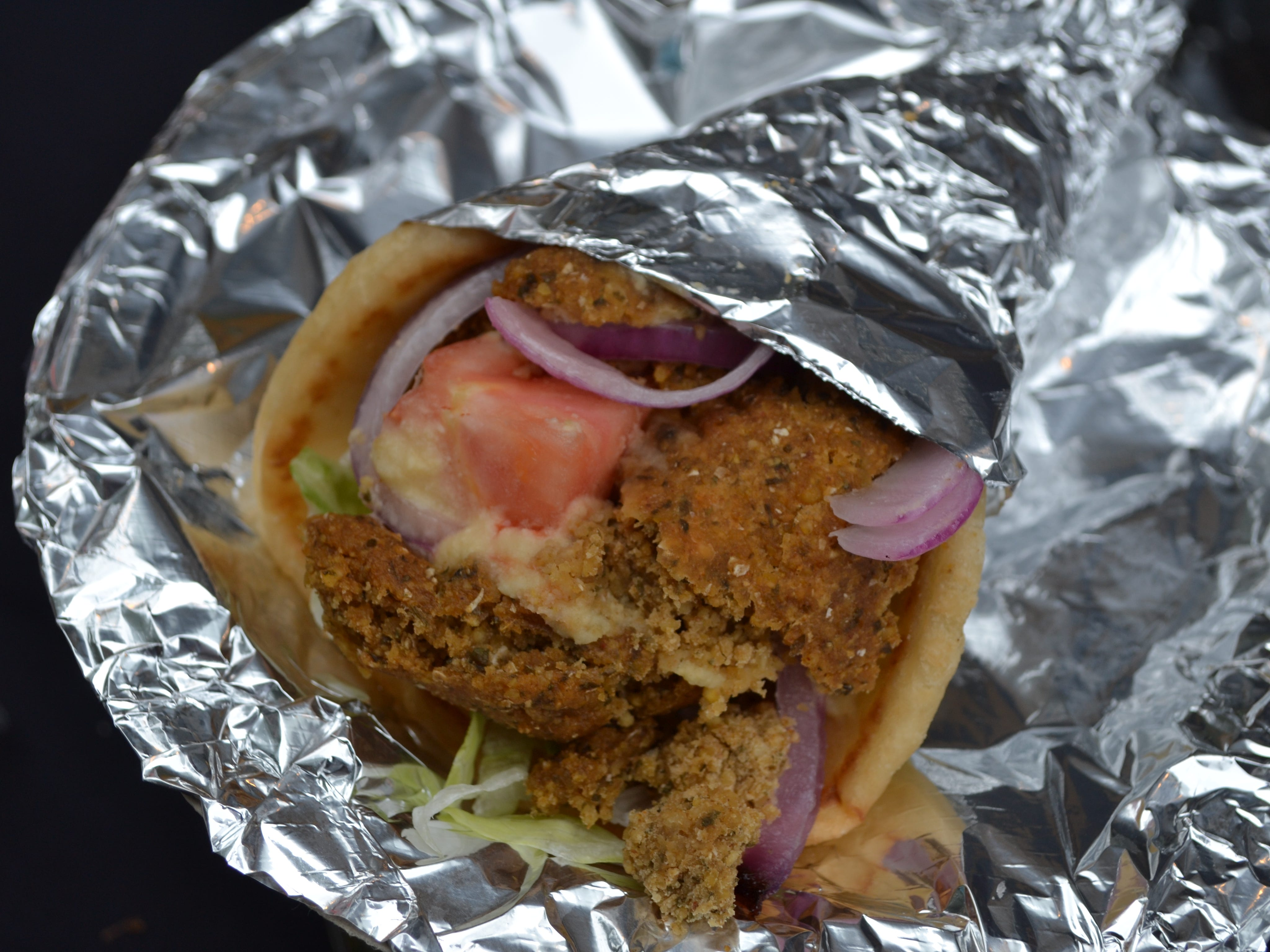Nader's Bistro is offering falafels and other Greek and Italian foods on Main Street near the Main Stage at the National Folk Festival.