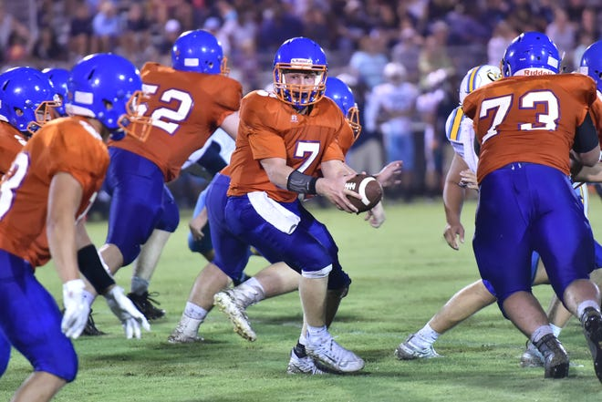 After being plagued by injury in 2017, Delmar's Senior Quarterback A.J. Angello, put up strong numbers in the Wildcats 42-14 win over Cape Henlopen.