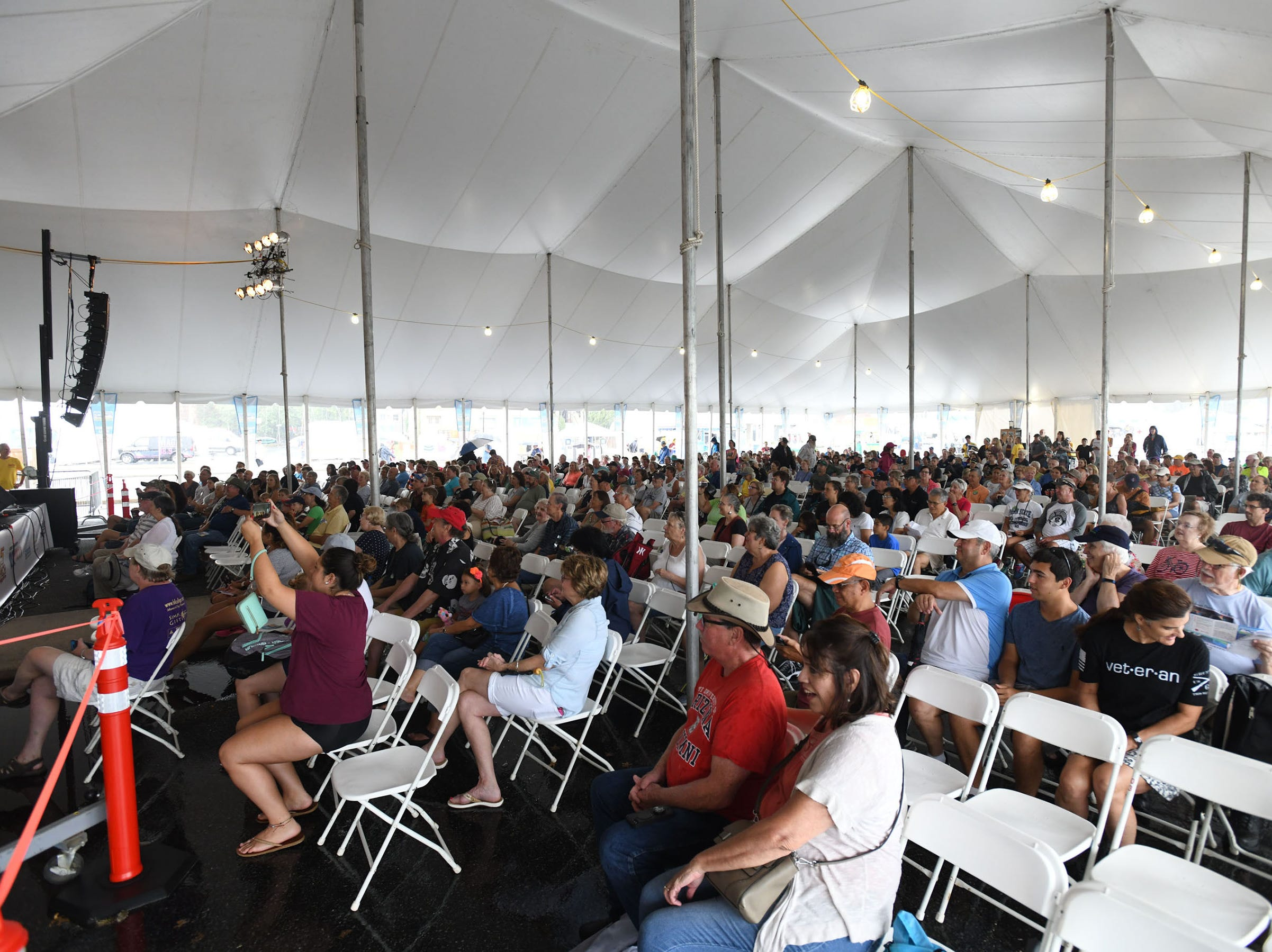 The PRMC tent is packed during the 78th National Folk Festival on Saturday, Sept. 8, 2018 in Salisbury, Md.