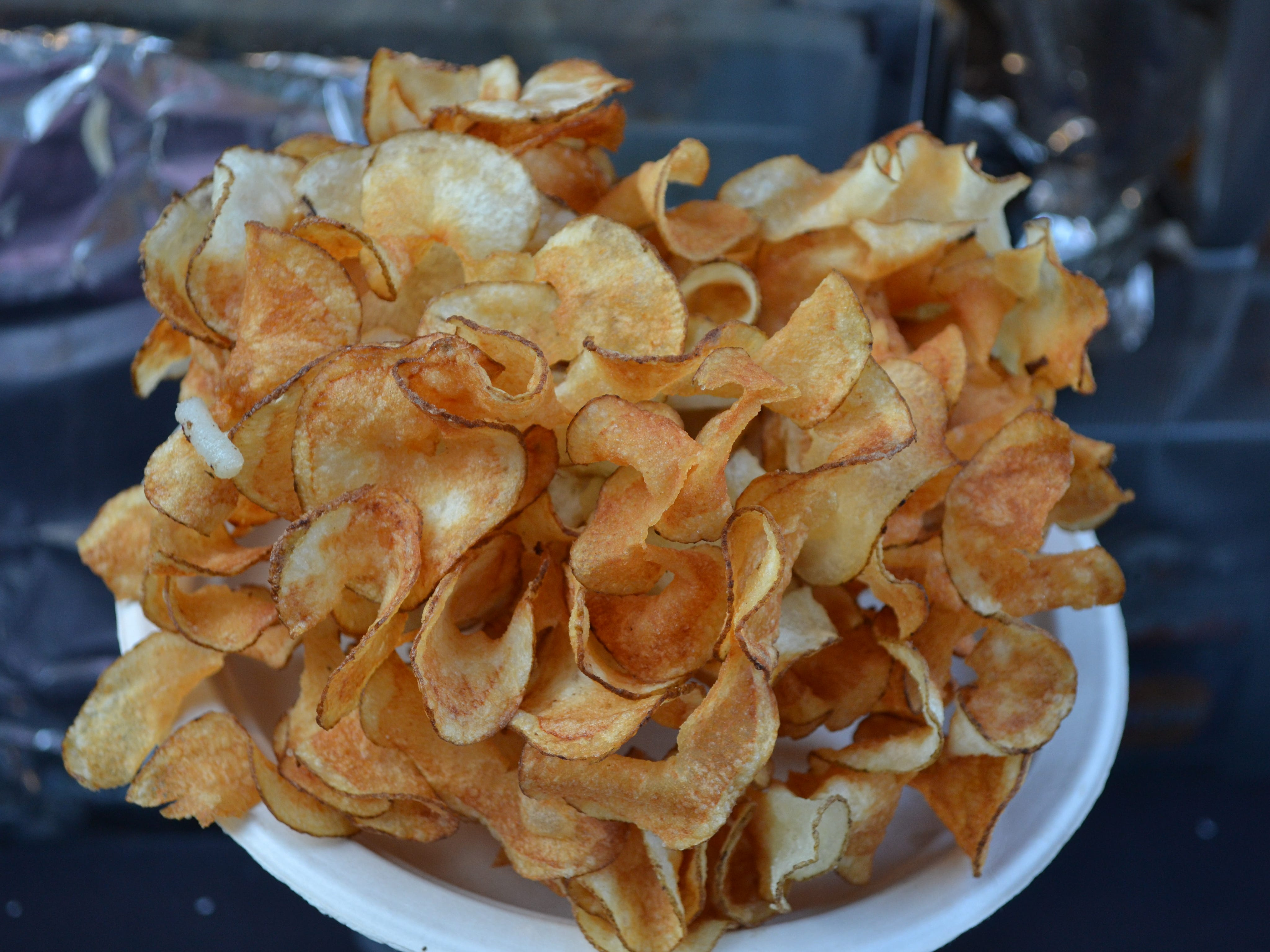 La Milpa on Main Street near the City Stage is offering homemade potato chips at the National Folk Festival in Salisbury.