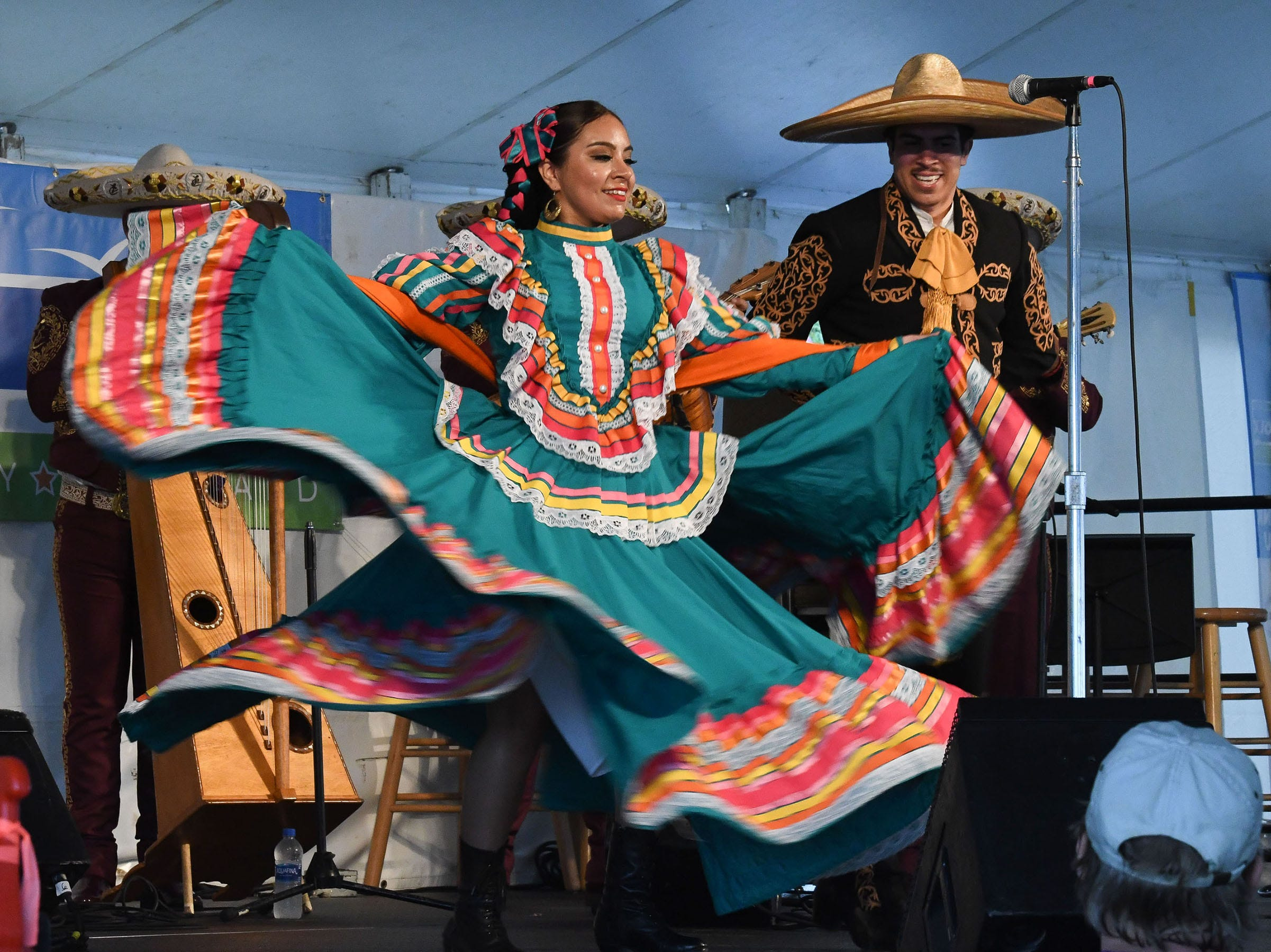 Mariachi Los Campros performed at the PRMC Stage during the 78th National Folk Festival in Salisbury, Md. on Saturday, Sept. 8, 2018.
