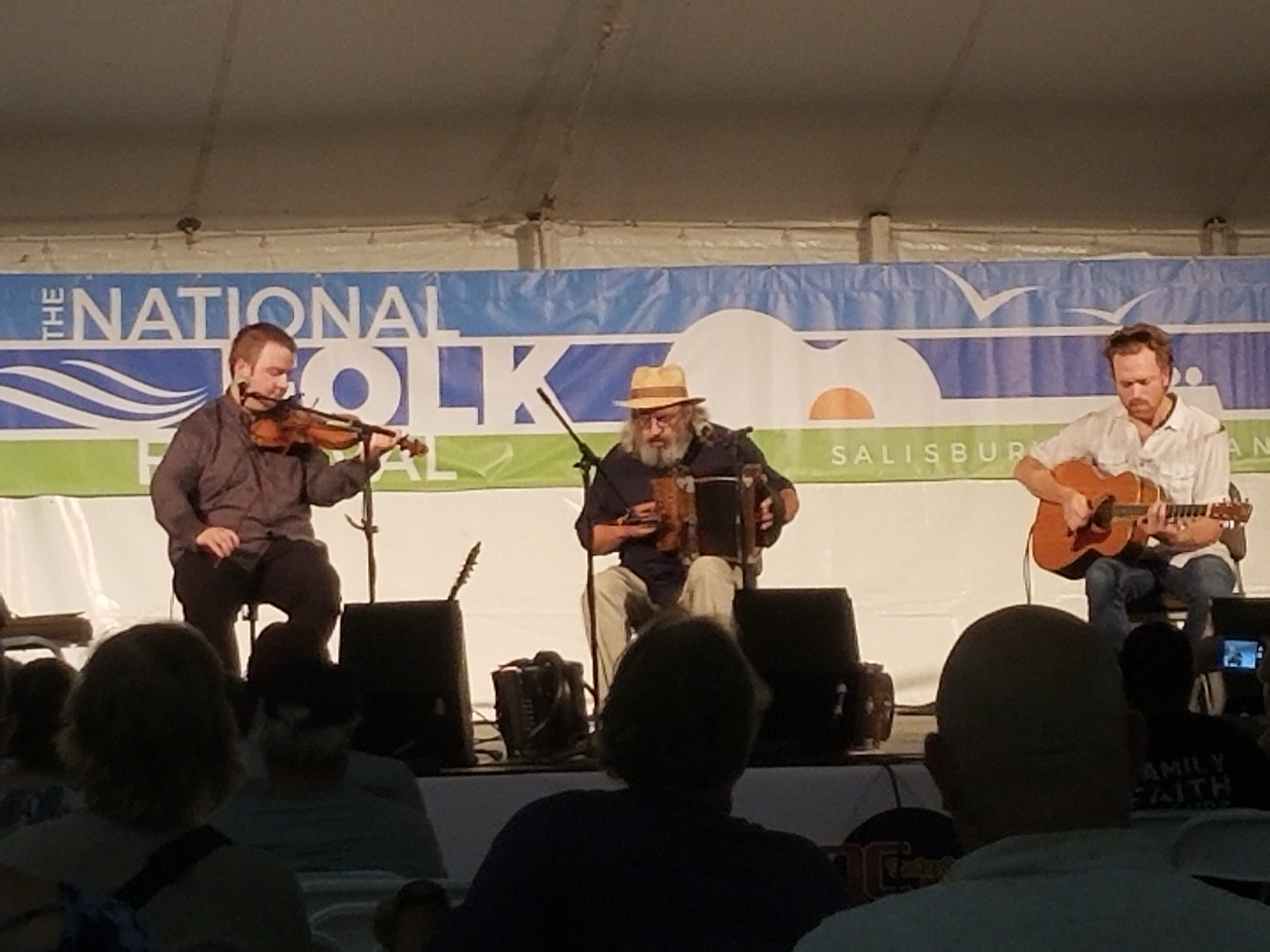 Yves Lambert Trio were one of the performers who played Friday, Sept. 7, 2018 at the National Folk Festival in Salisbury, Maryland.