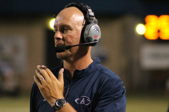 Airline High School head football coach Bo Meeks saw his team fall to 0-2 on Friday night.