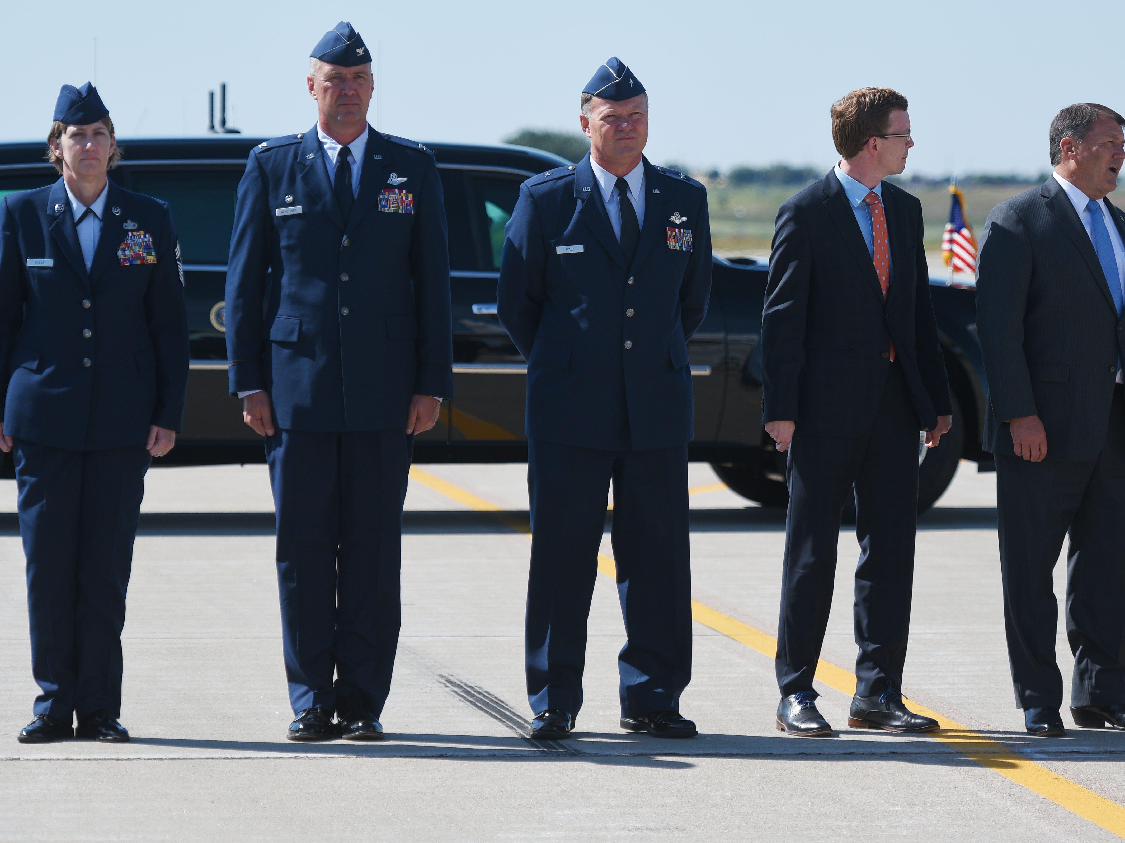 President Donald Trump visits Sioux Falls Friday, Sept. 7, at South Dakota Air National Guard in Sioux Falls.