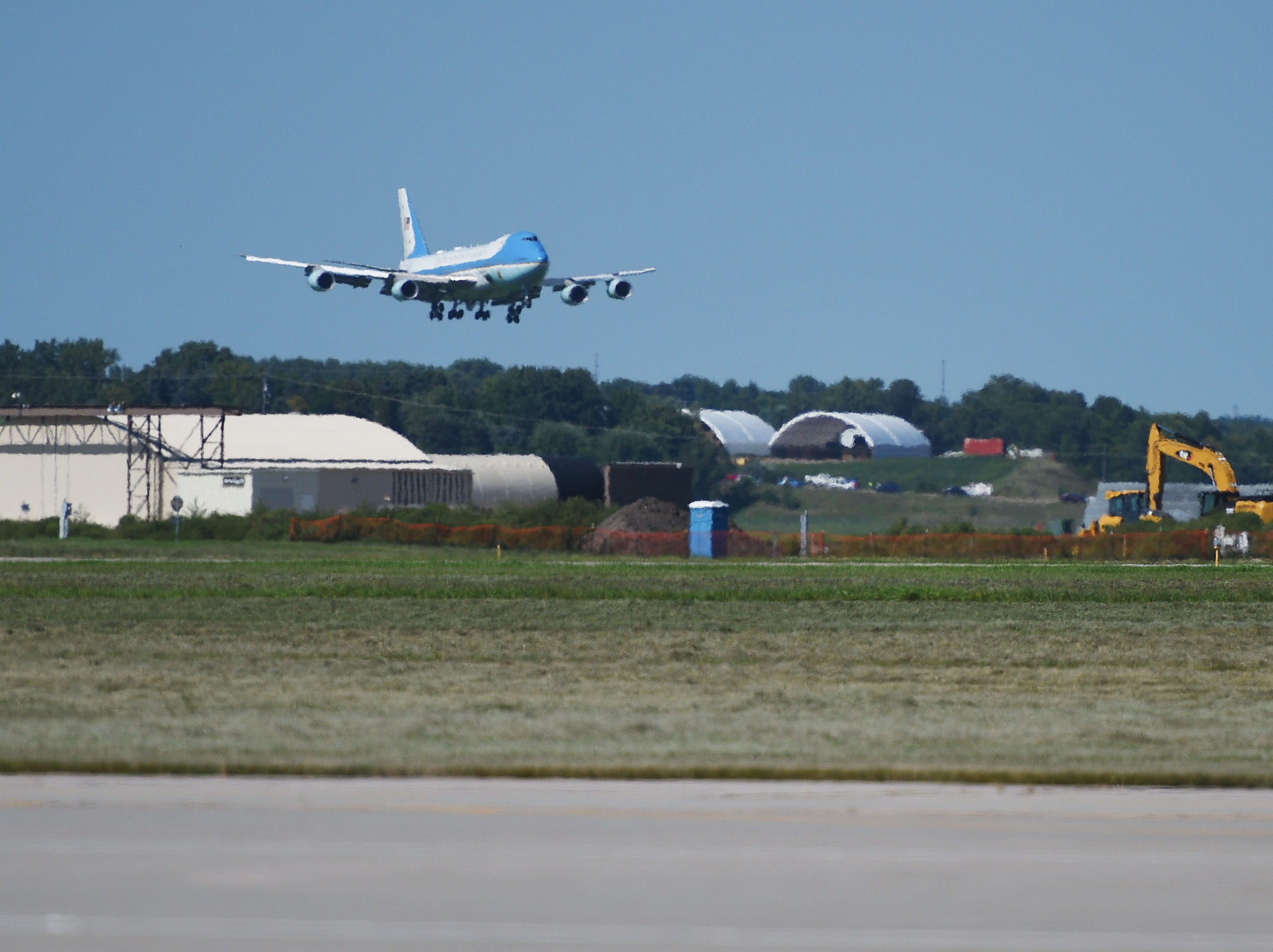 Air Force One lands in Sioux Falls Friday, Sept. 7, at South Dakota Air National Guard in Sioux Falls.
