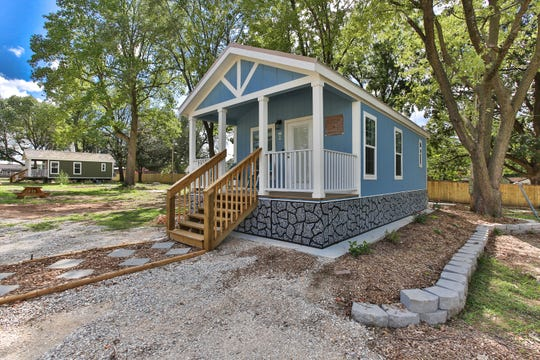 The first Eden Village includes 31 tiny houses and a community building. It was built at a former trailer park site and didn't need rezoning.
