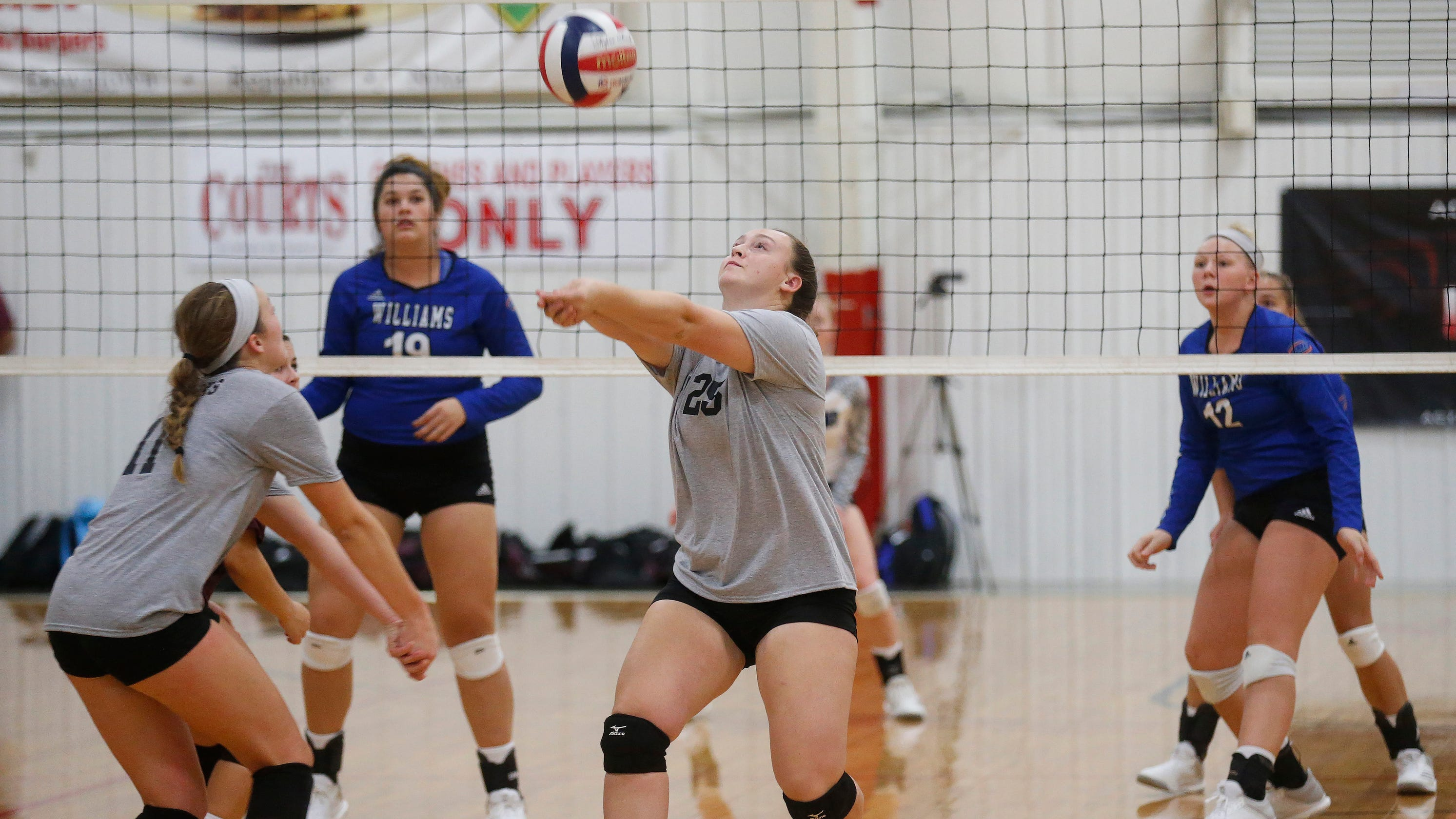98d9db08d741 College of the Ozarks volleyball team trades in Nike uniforms for gray  T-shirts