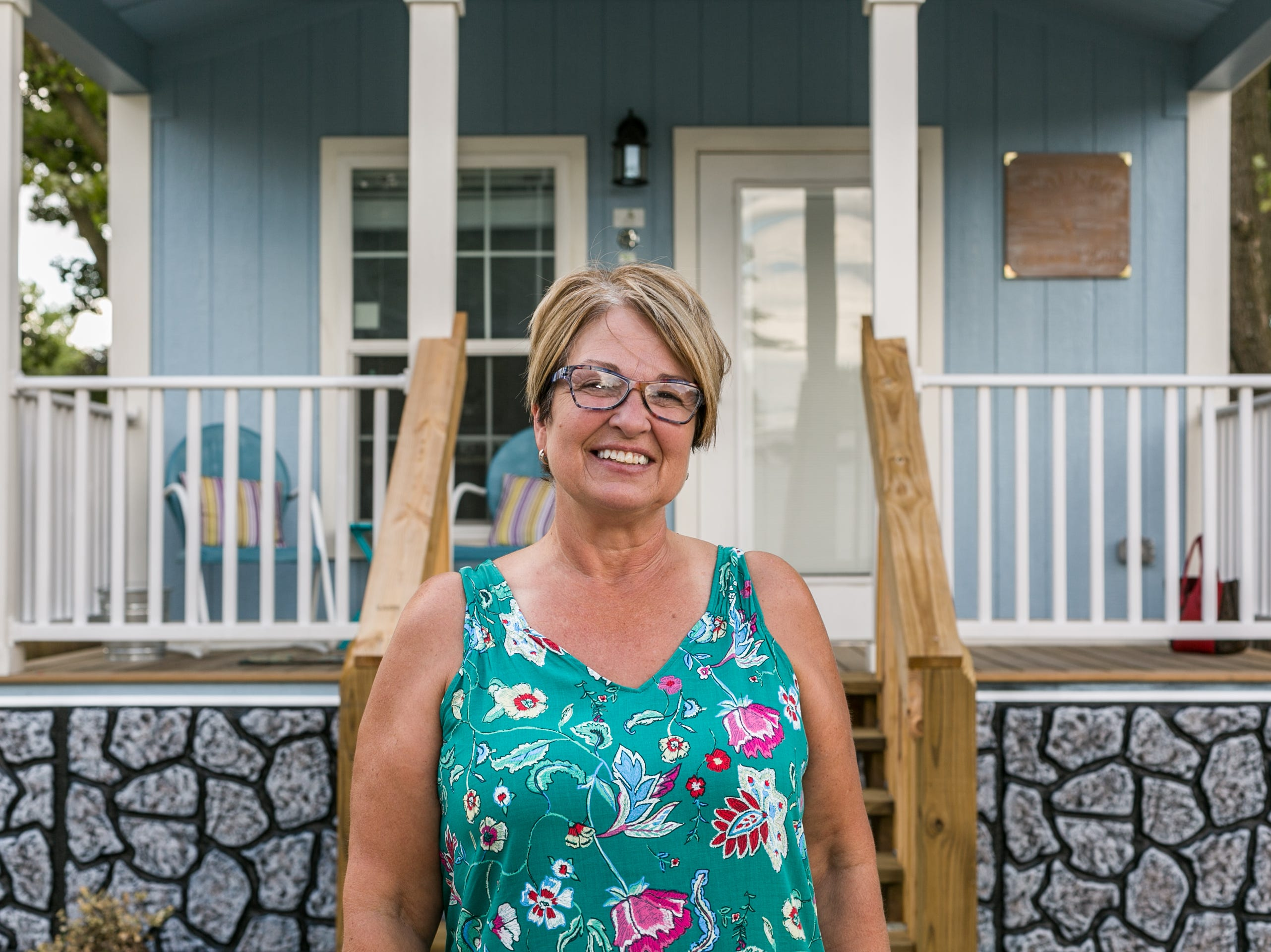 Mary Walker and husband Mike donated a tiny house to the Eden Village project. Mary says the opportunity offered them a concrete way to help combat homelessness.