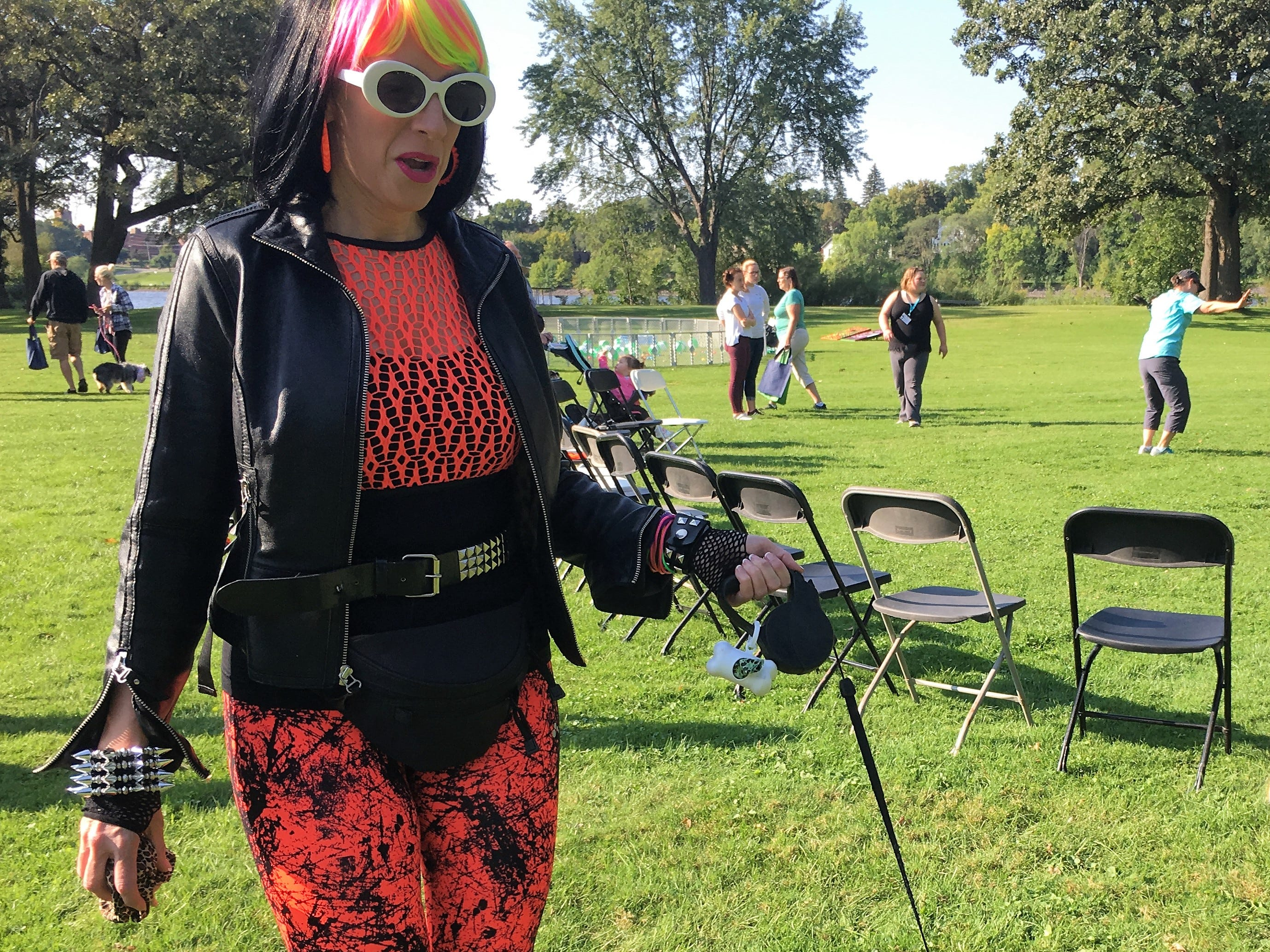 Neon colors and side ponytails were on point Saturday, Sept. 8 at Bark to the Future. The 30th annual Tri-County Humane Society Companion Walk celebrated the decade the shelter was born — the 1980s — while raising money for the nonprofit at Wilson Park in St. Cloud.