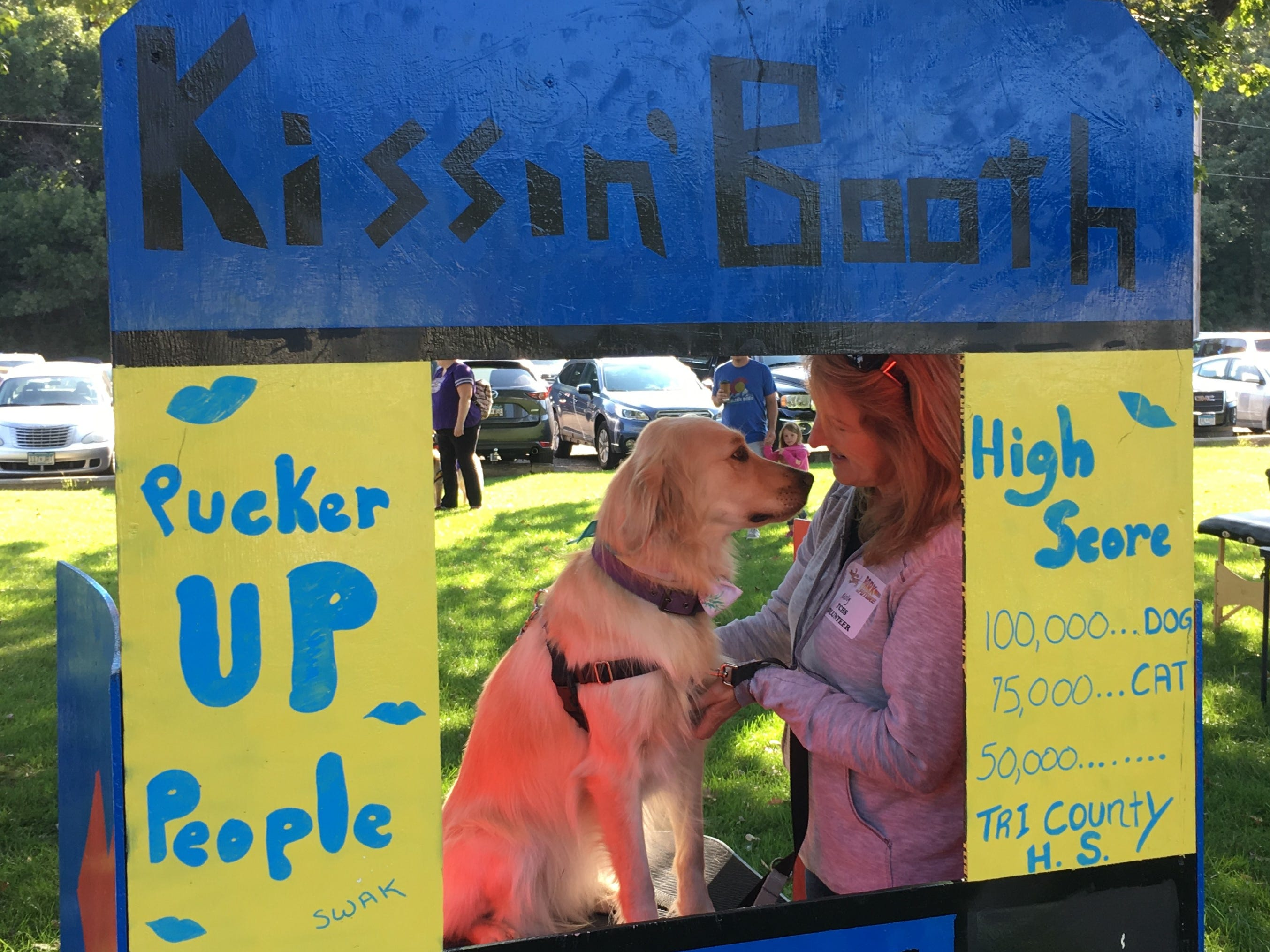 The Kissing Booth got a Pac-Man makeover and was on display Saturday, Sept. 8 at Bark to the Future. The 30th annual Tri-County Humane Society Companion Walk celebrated the decade the shelter was born — the 1980s — while raising money for the nonprofit at Wilson Park in St. Cloud.