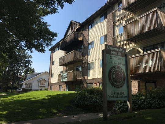The St. Cloud Fire Department helped 10 people escape a fire in the early hours of Saturday, Sept. 8, 2018. No one was hurt, but four apartments and the attic were damaged in the building on the 300 block of Seventh Street South in St. Cloud, near St. Cloud State University.