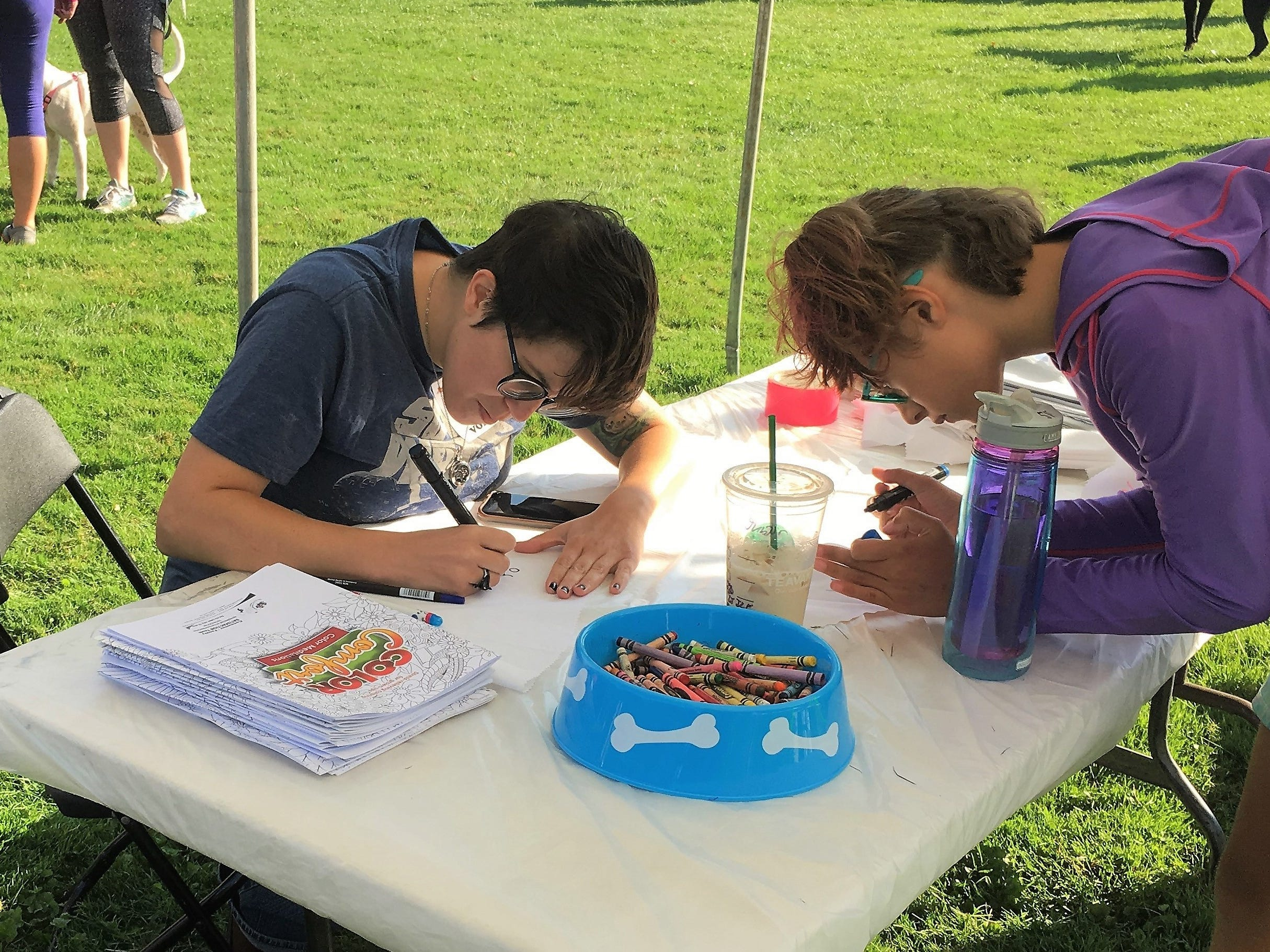 Arts and crafts were a big part of Bark to the Future on Saturday, Sept. 8. The 30th annual Tri-County Humane Society Companion Walk celebrated the decade the shelter was born — the 1980s — while raising money for the nonprofit at Wilson Park in St. Cloud.