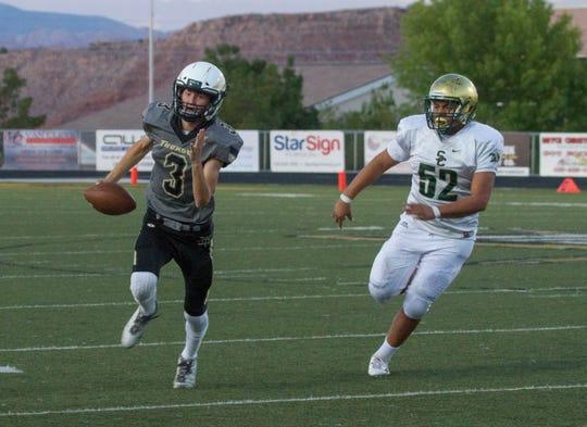 Desert Hills senior quarterback Logan Wilstead (3) will be the leader of the Thunder offense this season.