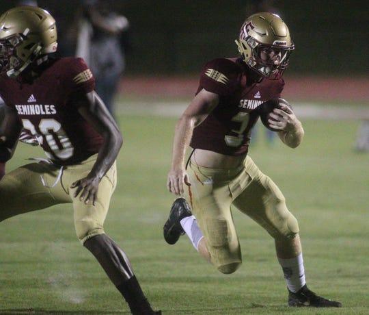 Madison County's and Florida High's football teams play on Friday, Sept. 7, 2018.