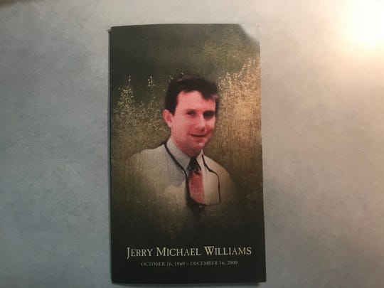 The program from the funeral of Mike Williams.