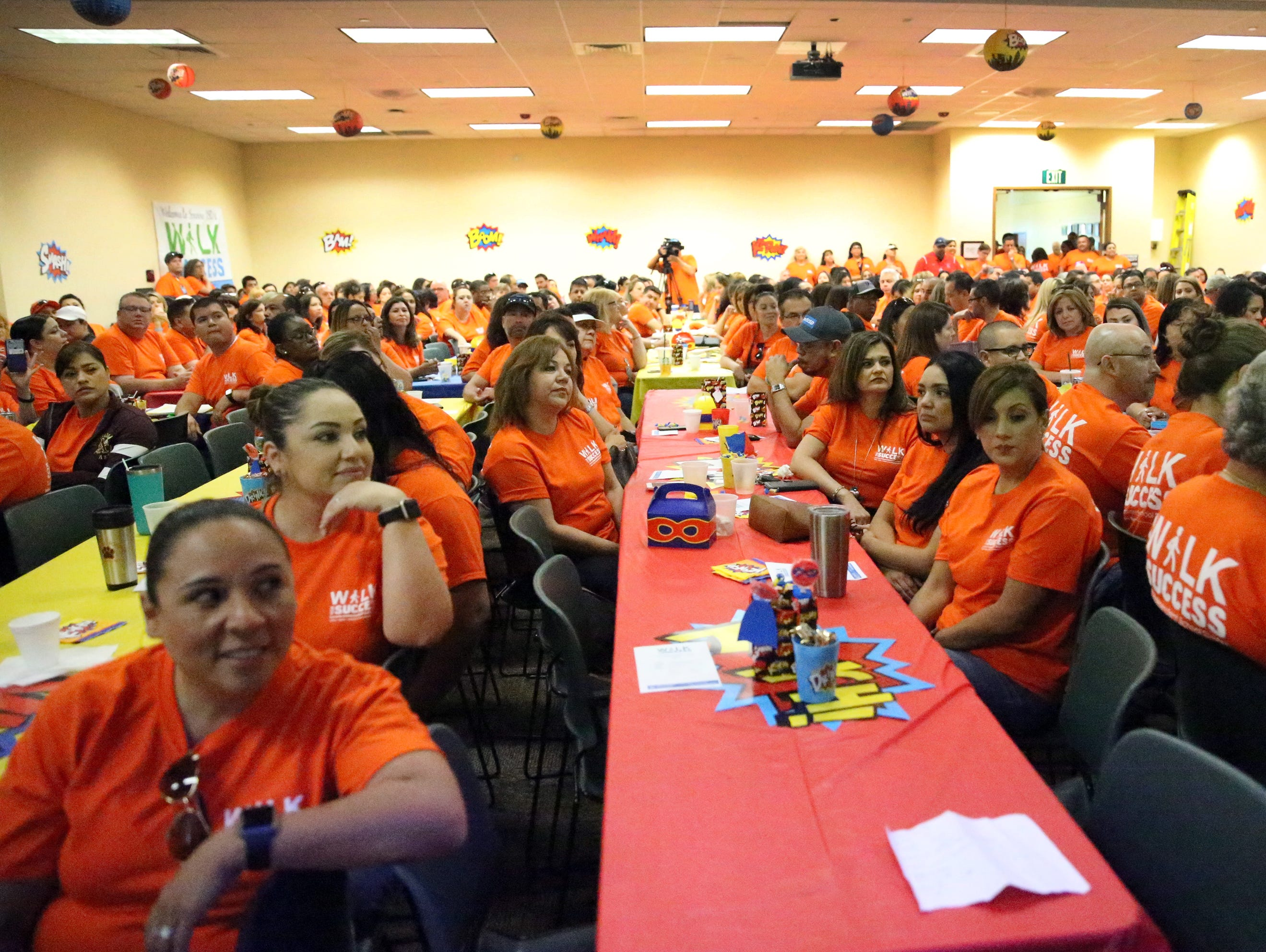 About 300 Socorro school district employees took part in the district's 5th annual Walk for Success Saturday.