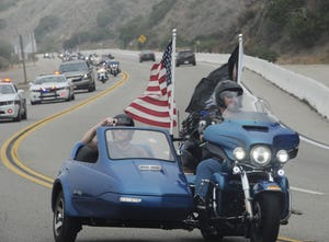 About 400 motorcyclists participate in the 2018 Ride to the Flags from Naval Base Ventura County Point Mugu to Pepperdine University, where flags are set up in commemoration of the 9/11 terrorist attacks. STAR FILE PHOTO