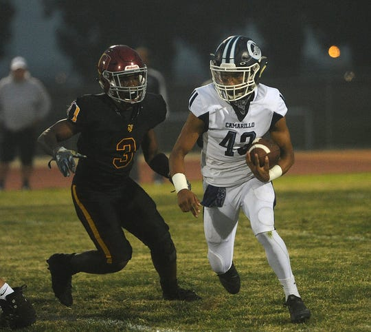 Running back Jesse Valenzuela and Camarillo have been dominant so far this season.