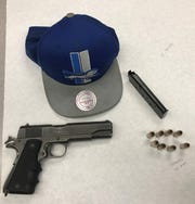 This loaded .45-caliber handgun was seized by Oxnard police.
