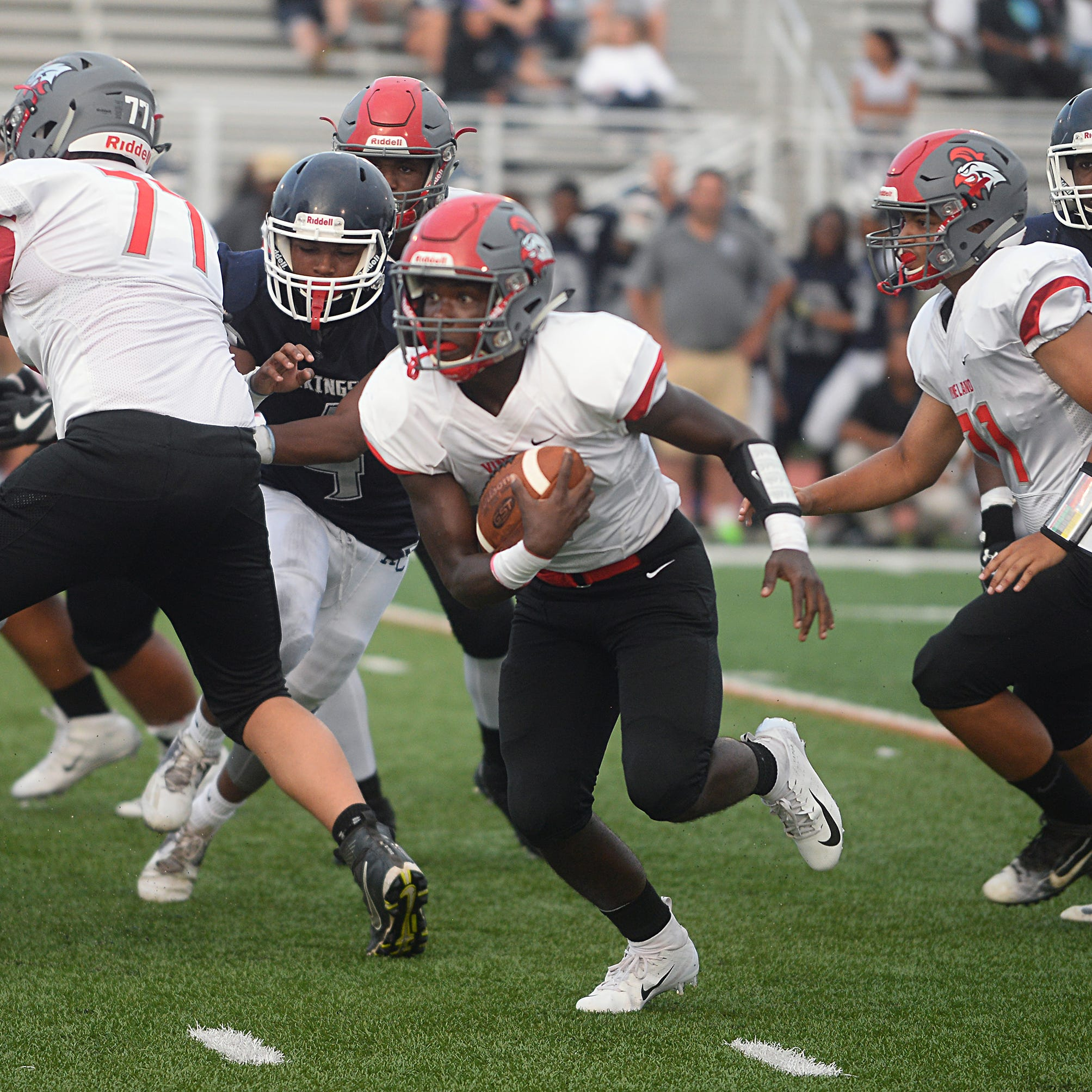 H.S. football: Vineland's Arthur sailed up depth chart with a little help from water